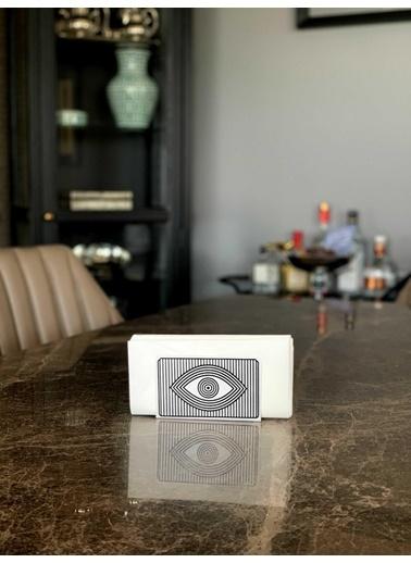 The Mia Peçetelik Beyaz 13 x 8 Cm - Eye Beyaz